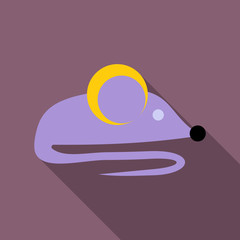 isolated mouse illustration, colored drawing, background