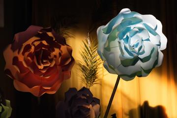 Paper flowers decoration ideas