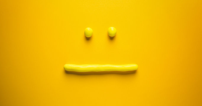 Disappointed Emoticon - Yellow Face