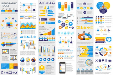 Infographic elements data visualization vector Wall mural