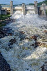 Beginning of spillway on Imatra power station dam