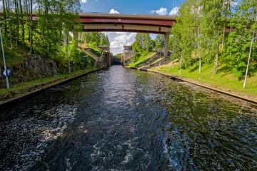 Saimaa Canal shipping lock