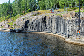 The old part of the gateway on the Saimaa canal. Finland