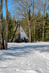 The Pyramid – one of the first pavilions in the Landscape Park (the Catherine Park). Pushkin, Russia.