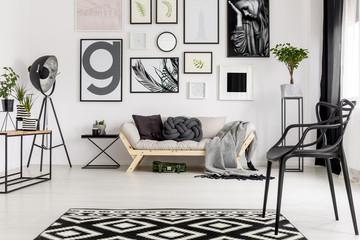 Sofa in artistic room