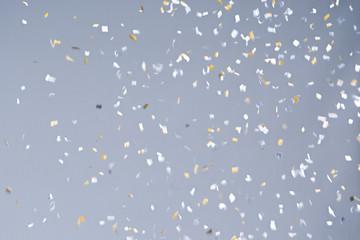 Confetti party on background. Celebration concept.