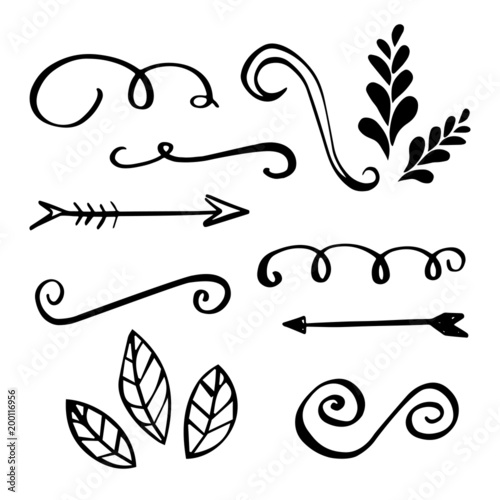 hand made flourishes ornaments and frames retro style design