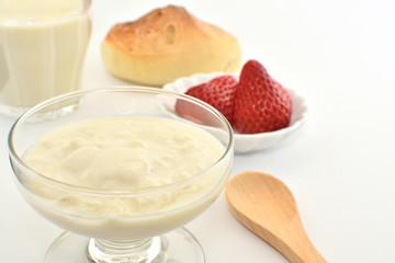 Soy milk yogurt  breakfast