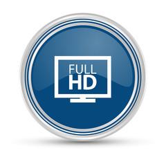Blauer Button - HD Auflösung