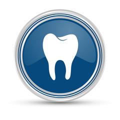 Blauer Button - Zahn