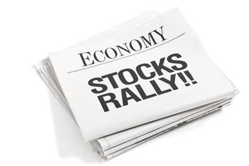 Newspaper Headlines Stocks Rally