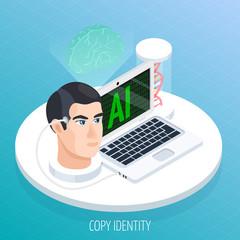 Braing Digitisation Isometric Concept