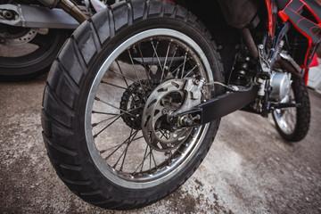 Motorbikes in workshop