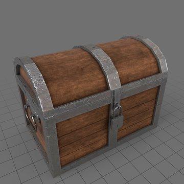 Closed treasure chest