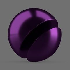 Purple anodized metal