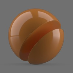 Shiny orange plastic