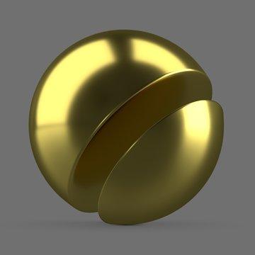 Yellow anodized metal