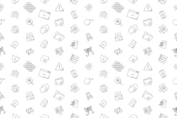 Vector cyber security pattern. Cyber security seamless background