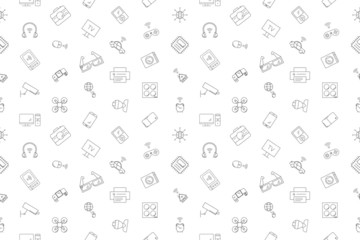 Vector internet of thinks pattern. Internet of things seamless background