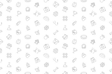 Vector pet pattern. Pet seamless background