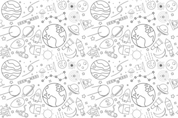 Vector space pattern. Space seamless background