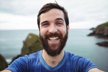 Man posing for selfie