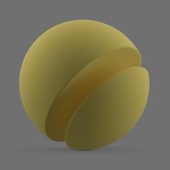 Matte yellow surface