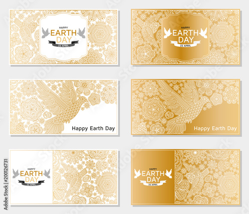 happy earth day background good design template for banner