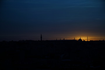 sunrise in sultanahmet mosque