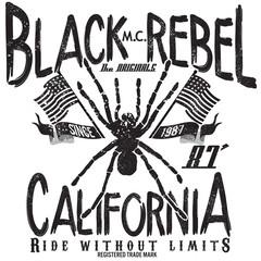 tee graphics,vintage graphics for t-shirt,black rebel california image design