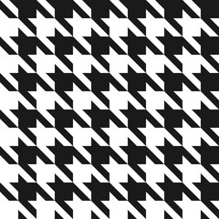 Houndstooth seamless pattern. Vintage houndstooth texture for textile and fashion industry