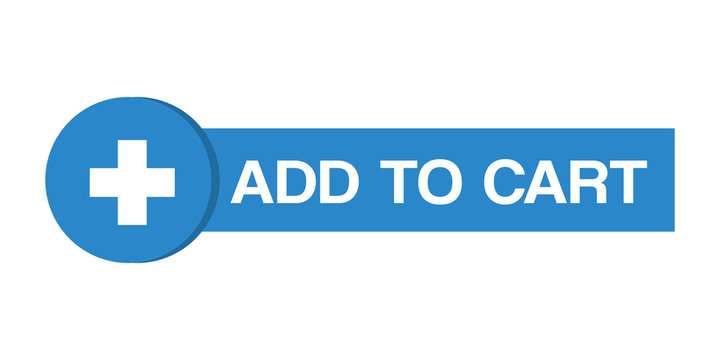 Add to cart web button online shopping with add icon.