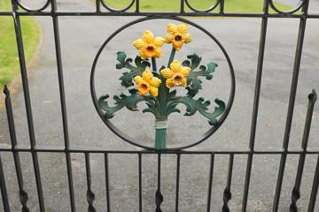 Gate daffodil design.