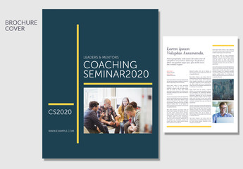 Leadership Business Brochure Layout wth Yellow Accents