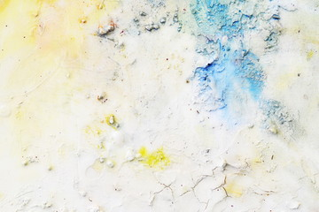 Creative abstract hand painted background, wallpaper, texture. Abstract composition for design elements. Close-up fragment of acrylic painting on canvas with brush strokes. Abstract art background