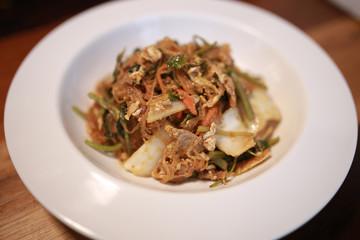 Yummy Vermicelli with Pork Ham  Mushroom and Shrimp