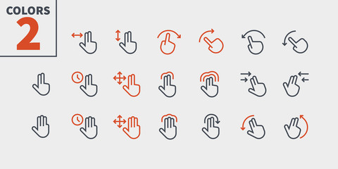 Gesture View Outlined Pixel Perfect Well-crafted Vector Thin Line Icons 48x48 Ready for 24x24 Grid for Web Graphics and Apps with Editable Stroke. Simple Minimal Pictogram Part 2-3