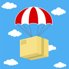 Concept for delivery service. Delivering, Distribution Warehouse, Freight Transportation, Mail, Send. Stock vector illustration