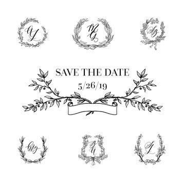 Design element of wedding set