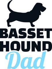 Basset hound dad silhouette