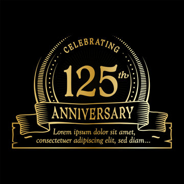125th anniversary design template. Vector and illustration.