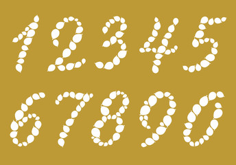 balloon numbers on a golden background
