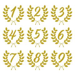 laurel wreath with jubilee numbers