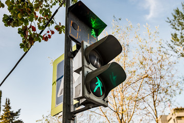 Traffic Lights Green Color Walking Man