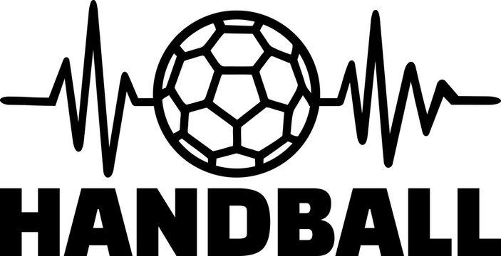 Handball heartbeat line