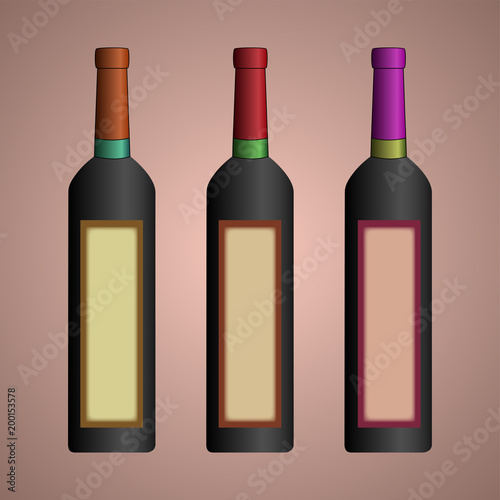 Design of a bottle for wine  A wine bottle  Capacity for