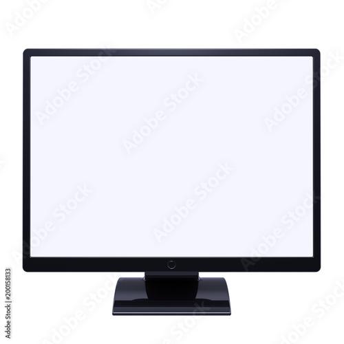 Monitor Computer Lcd Tv Screen Blank Desctop Display Black 3d