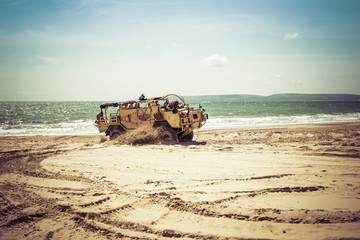 Army Land Vehicle in Action
