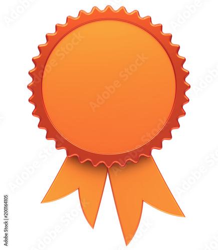 Award Ribbon Blank Golden Reward Medal Rosette Best Badge Winner
