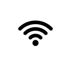 WIFI Icon in flat style. Wireless symbol